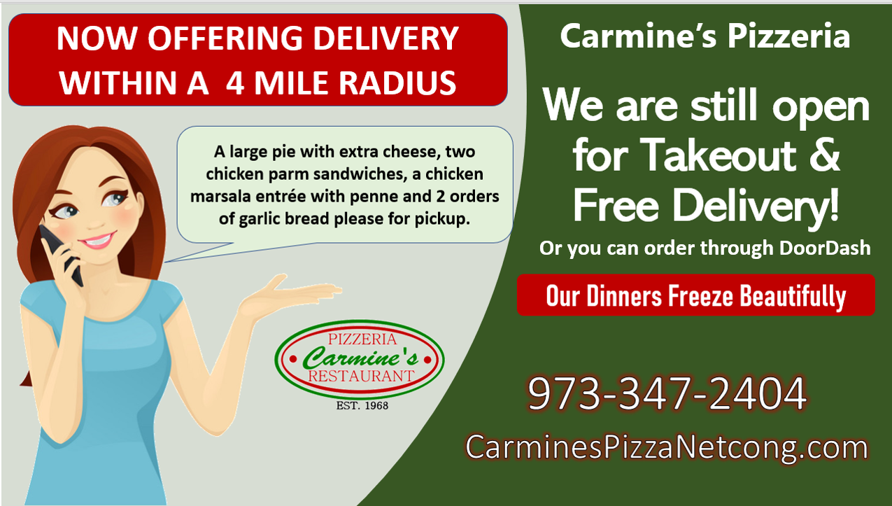 new carmines pizza netcong takeout stanhope roxbury mount olive italian restaurant